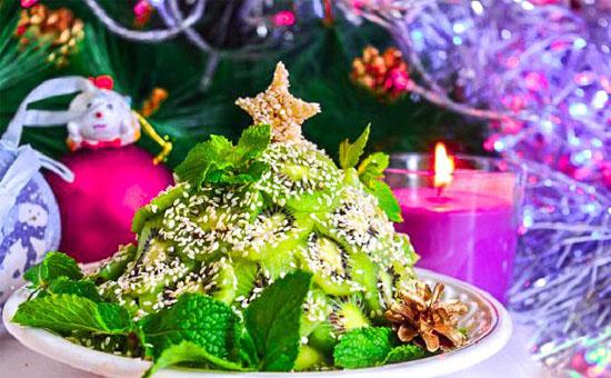 Новогодний фруктовый салат с кунжутом - рецепт и приготовление 1