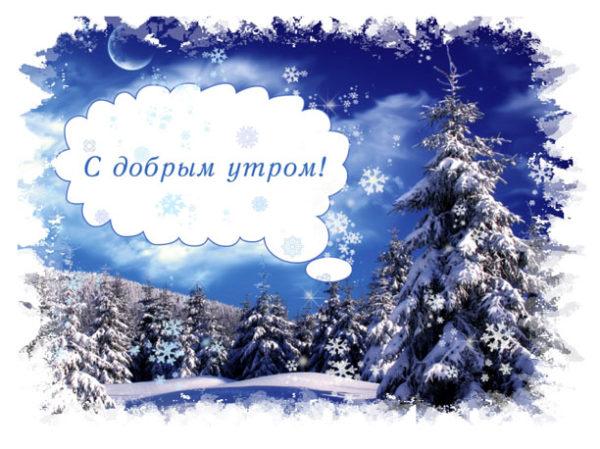 С Добрым зимним утром - скачать бесплатно прикольные картинки 7