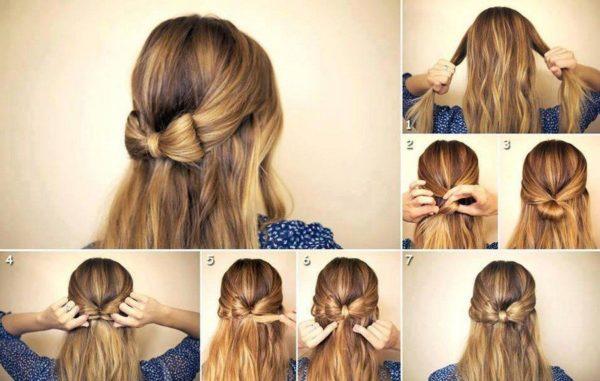 Как сделать бант из волос на голове Основные методы и способы 1