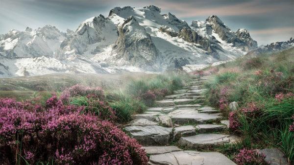 Красивые и удивительные картинки, фото гор - лучшая подборка 14
