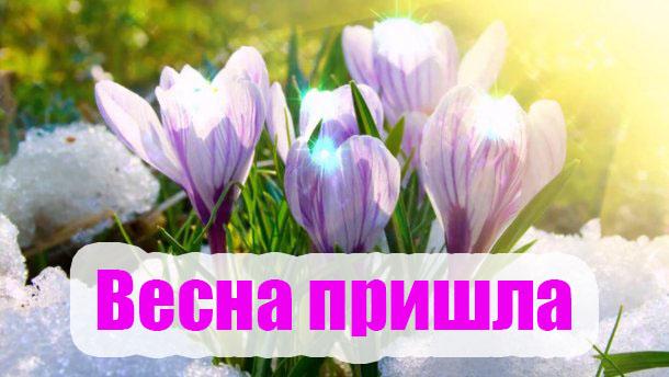 Весна пришла картинки с надписями - самые красивые и прикольные 7