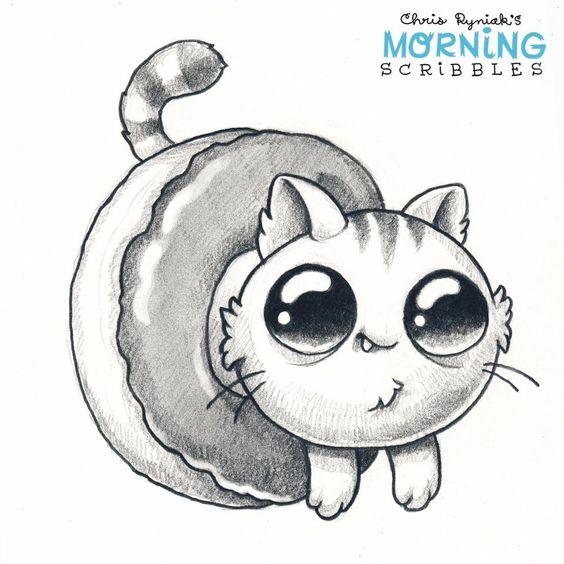 Картинки для срисовки животные - очень красивые, легкие и простые 10