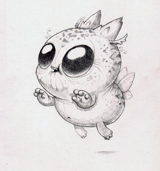 Картинки для срисовки животные - очень красивые, легкие и простые 11