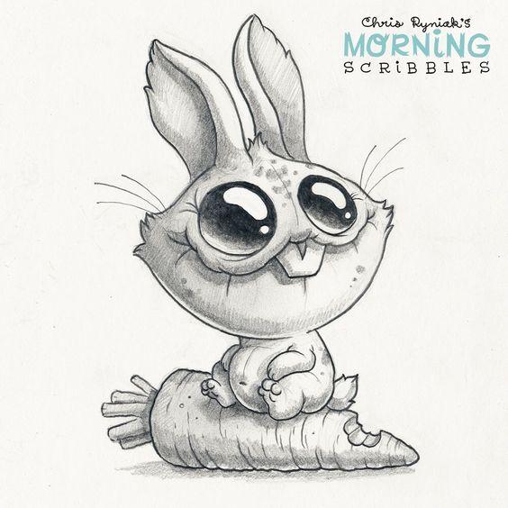 Картинки для срисовки животные - очень красивые, легкие и простые 8