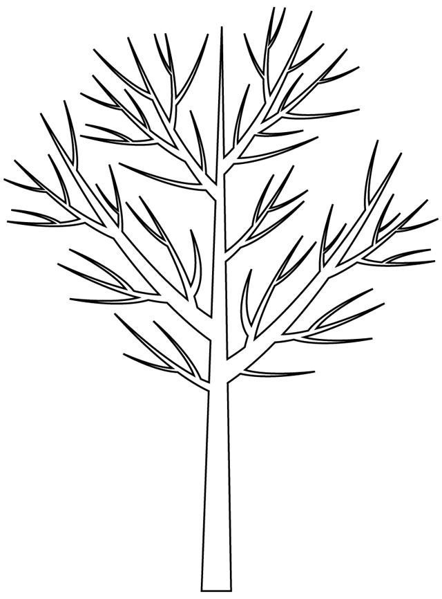 Красивые картинки дерево без листьев - скачать бесплатно для детей 12