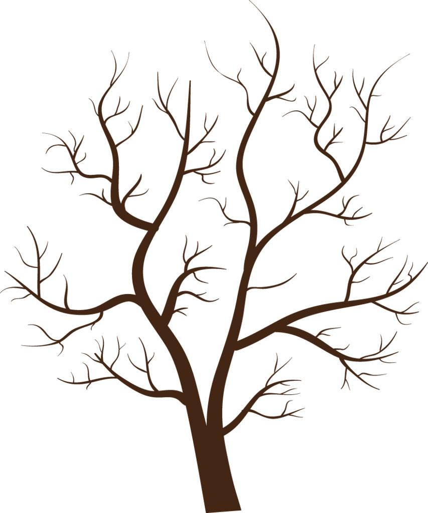 Красивые картинки дерево без листьев - скачать бесплатно для детей 7