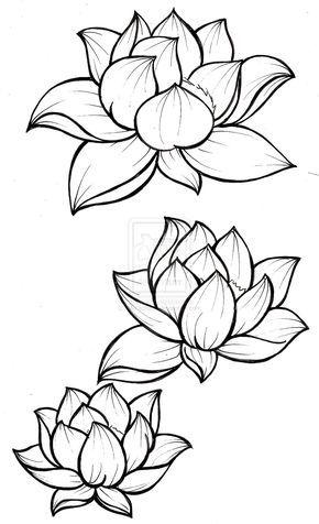 Цветные рисунки цветов для срисовки - красивая подборка 10
