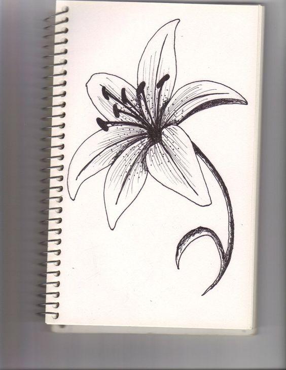 Цветные рисунки цветов для срисовки - красивая подборка 12