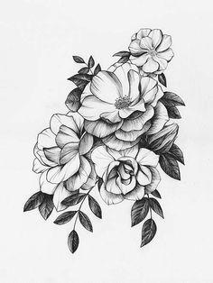 Цветные рисунки цветов для срисовки - красивая подборка 13