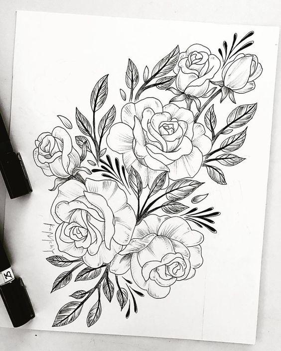 Цветные рисунки цветов для срисовки - красивая подборка 16