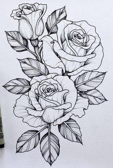 Цветные рисунки цветов для срисовки - красивая подборка 18