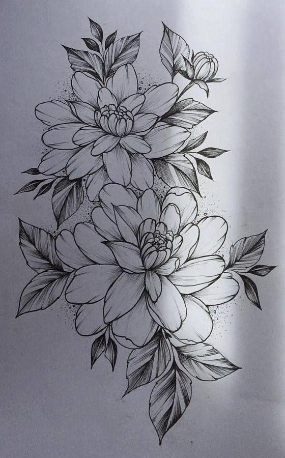 Цветные рисунки цветов для срисовки - красивая подборка 3