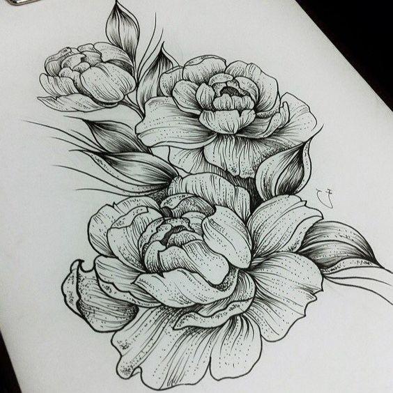 Цветные рисунки цветов для срисовки - красивая подборка 7