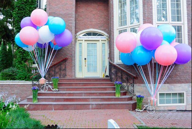 Как украсить воздушными шарами помещение, какие выбрать 4