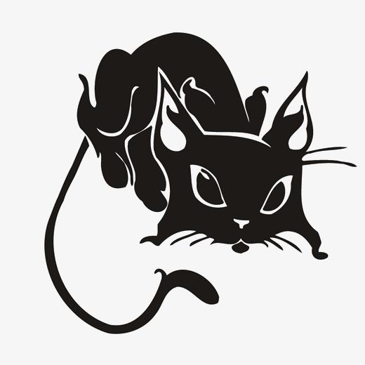 Чёрно-белые рисунки и картинки кошек, котиков - коллекция 12