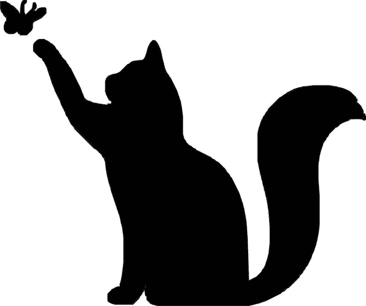 Чёрно-белые рисунки и картинки кошек, котиков - коллекция 6