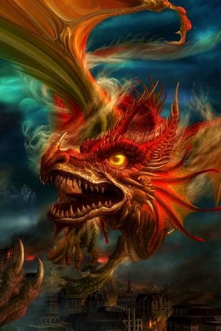 Скачать картинки драконов на заставку телефона - самые лучшие 1