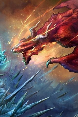 Скачать картинки драконов на заставку телефона - самые лучшие 12
