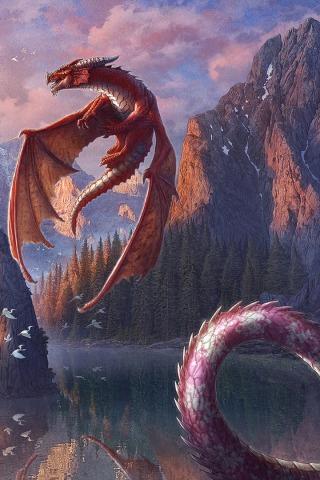 Скачать картинки драконов на заставку телефона - самые лучшие 13