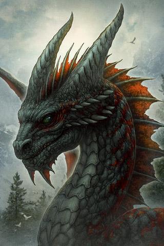 Скачать картинки драконов на заставку телефона - самые лучшие 14