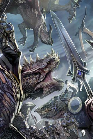 Скачать картинки драконов на заставку телефона - самые лучшие 2