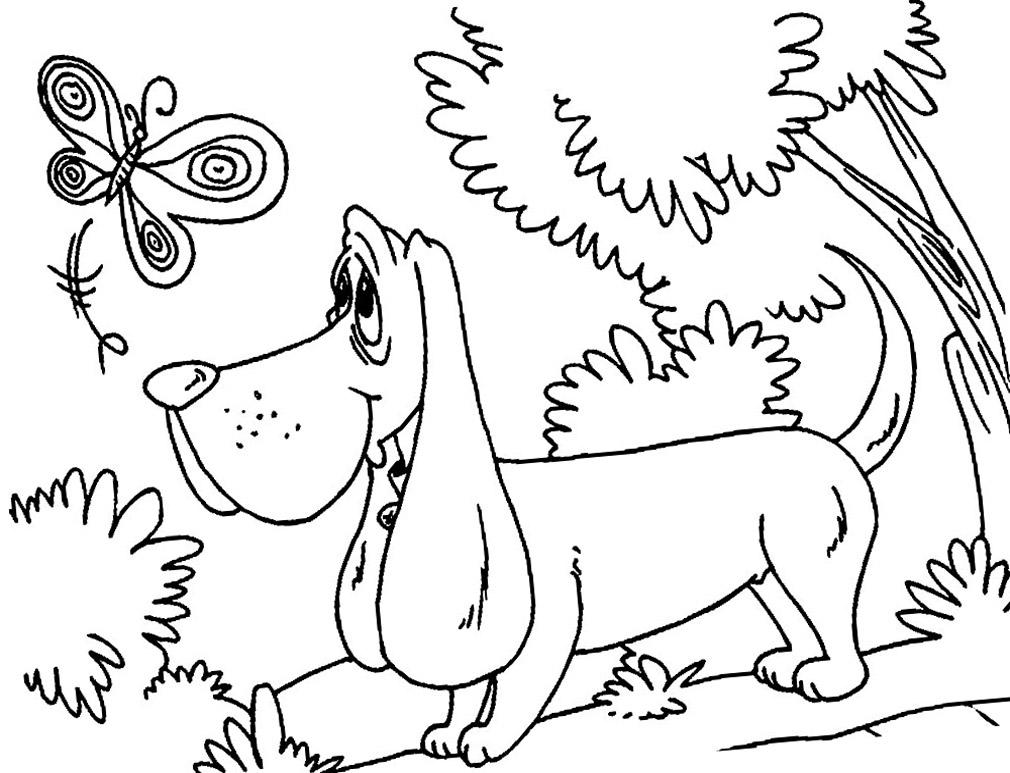 Красивые щенки раскраски для девочек и мальчиков - подборка 3