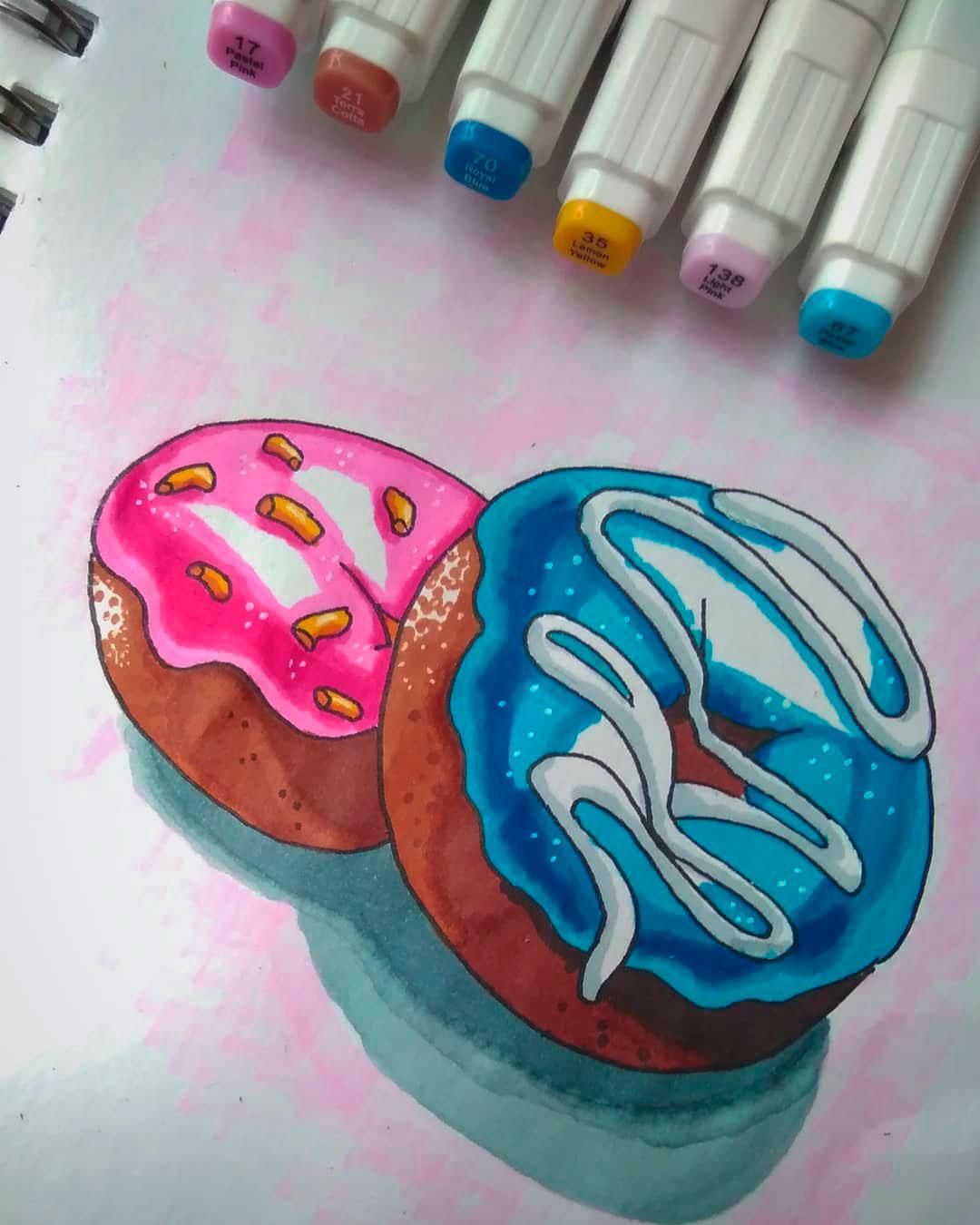 Красивые и прикольные картинки пончиков для срисовки - подборка 6