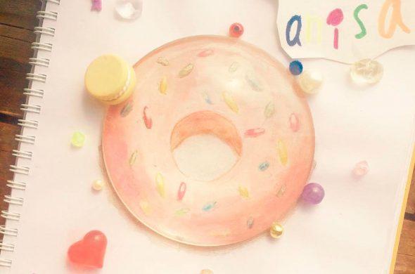 Красивые и прикольные картинки пончиков для срисовки - подборка 7