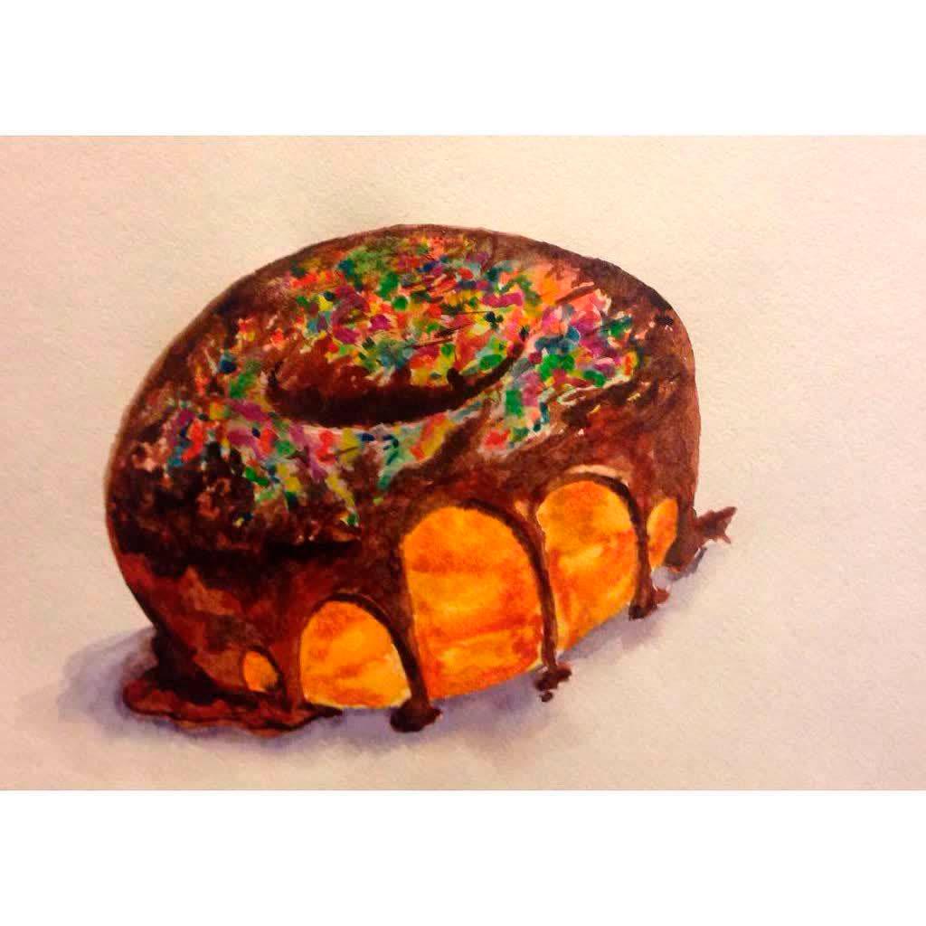 Красивые и прикольные картинки пончиков для срисовки - подборка 8