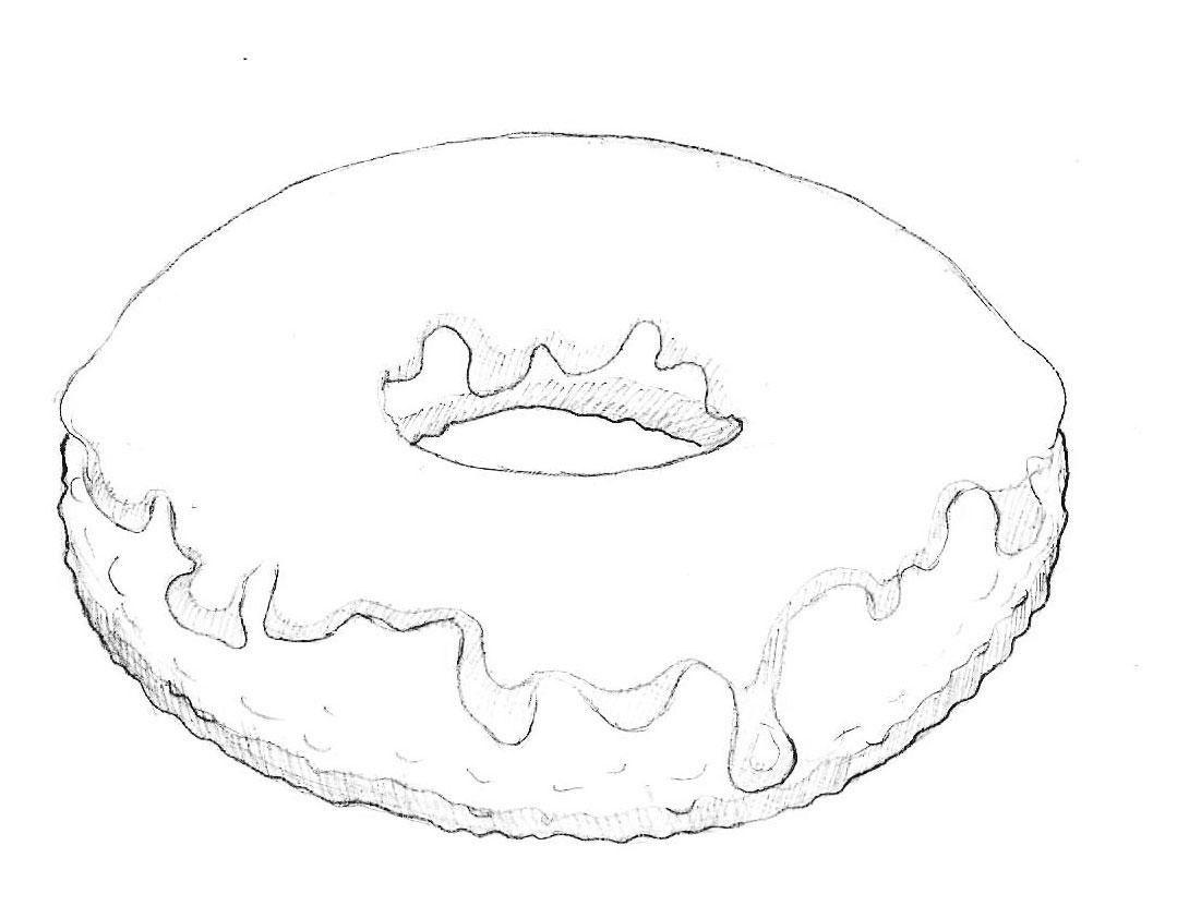 Красивые и прикольные картинки пончиков для срисовки - подборка 1
