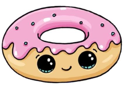 Красивые и прикольные картинки пончиков для срисовки - подборка 2