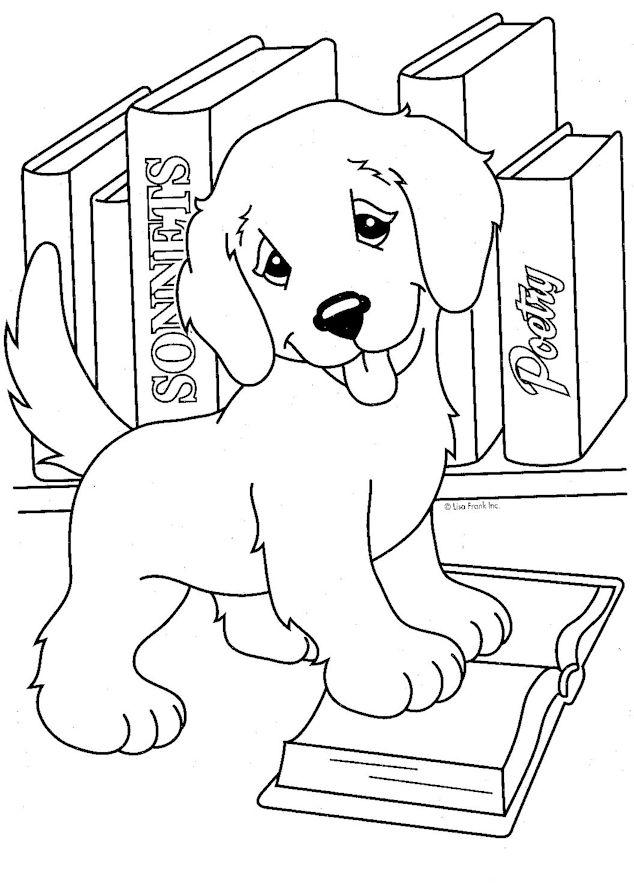 Красивые щенки раскраски для девочек и мальчиков - подборка 1