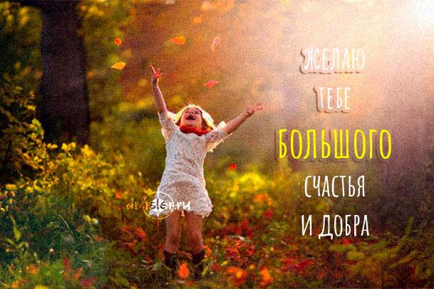 """Красивые картинки """"желаю тебе счастья и добра"""" - приятная сборка 11"""