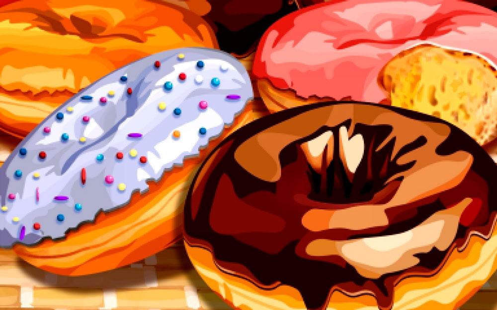 Красивые и прикольные картинки пончиков для срисовки - подборка 9