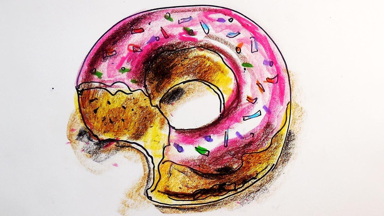 Красивые и прикольные картинки пончиков для срисовки - подборка 10
