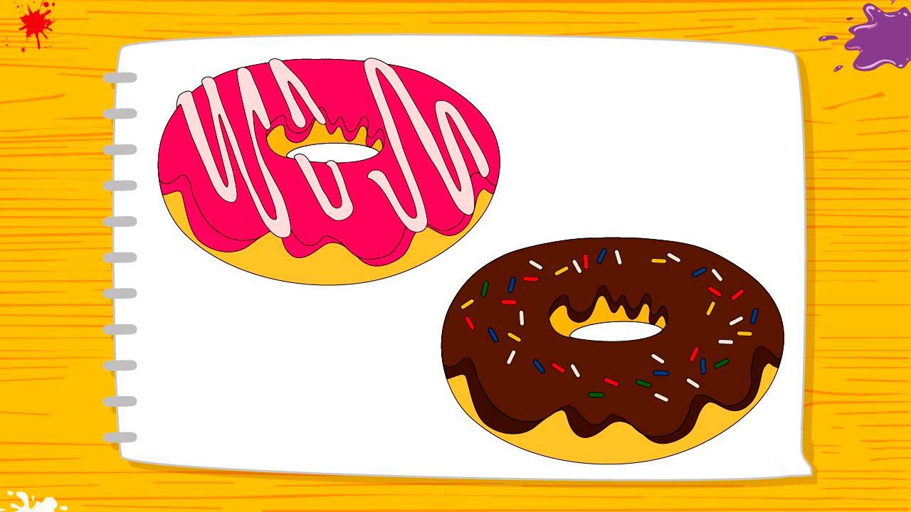 Красивые и прикольные картинки пончиков для срисовки - подборка 11