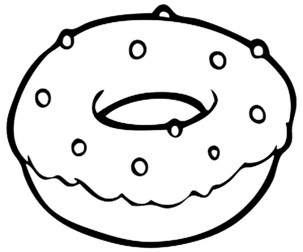 Красивые и прикольные картинки пончиков для срисовки - подборка 13
