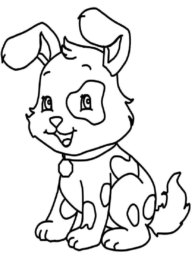 Красивые щенки раскраски для девочек и мальчиков - подборка 9