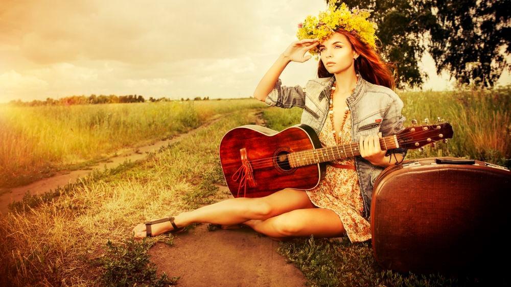 Красивые картинки девушки с гитарой - подборка фотографий 14