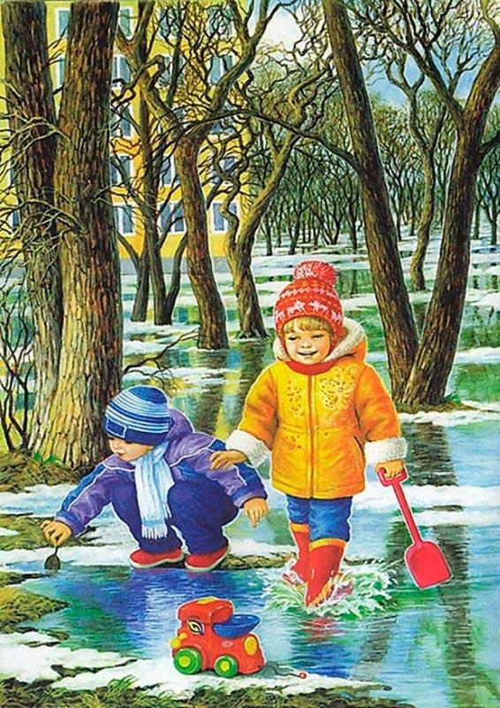 Красивые картинки времена года для детей - подборка 15 фото 14
