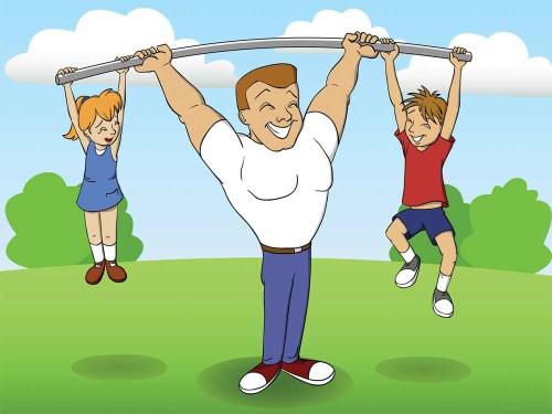 Мама, папа, я - спортивная семья! - красивые картинки 22