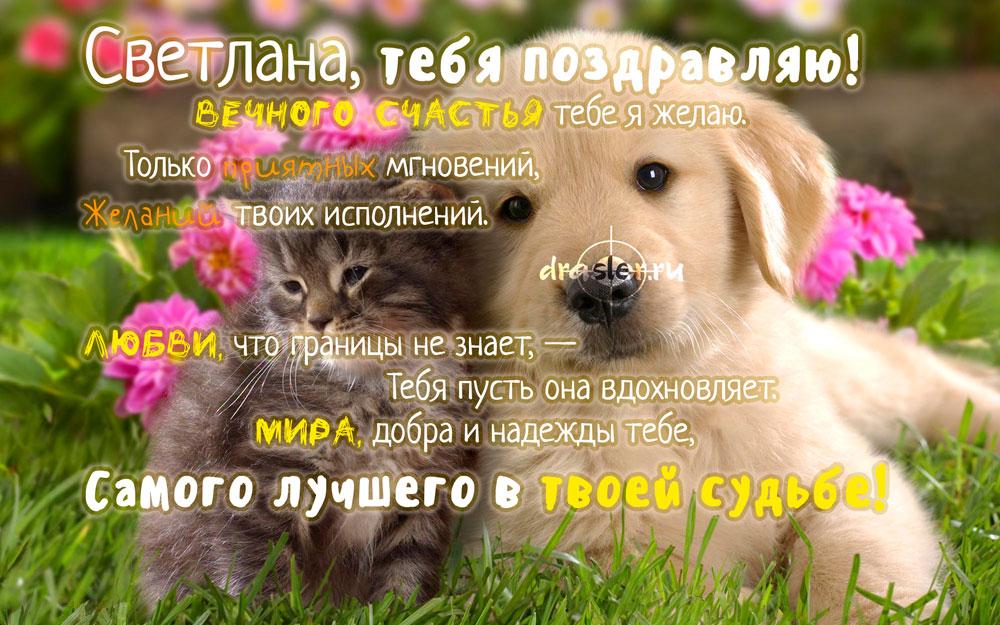 С Днем Рождения Светлана - красивые открытки 7