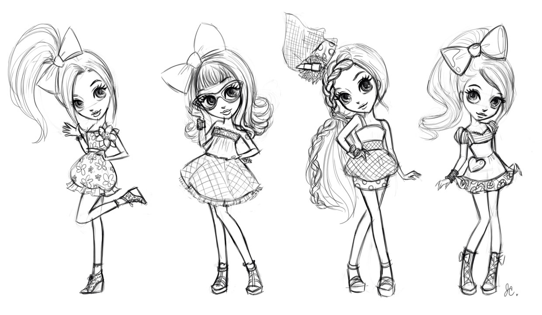 Милые картинки для срисовки девочкам 12 лет - сборка 1