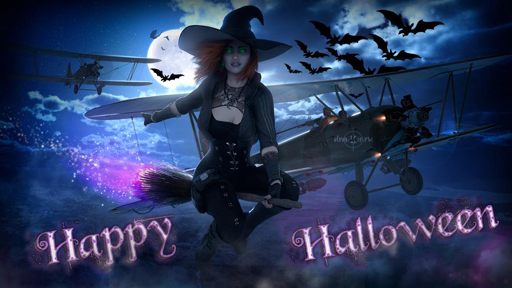 Картинки, открытки поздравления с Хэллоуином - самые прикольные 2
