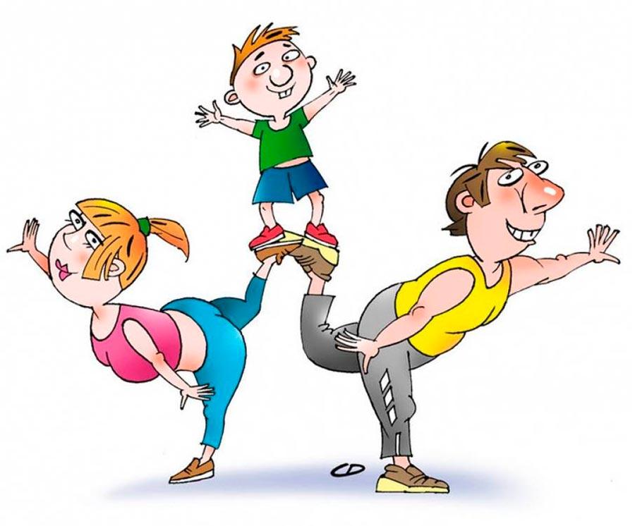 """""""Мама, папа, я - спортивная семья!"""" - красивые картинки 7"""