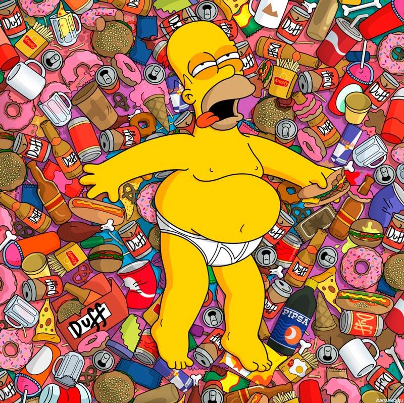 Прикольные картинки Гомера Симпсона - подборка 20 фото 11