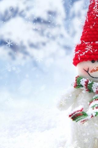 Новогодние картинки зимы 2019 на телефон на заставку 8