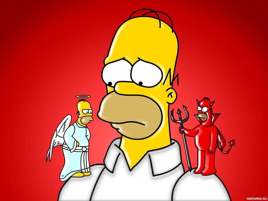 Прикольные картинки Гомера Симпсона - подборка 20 фото 17