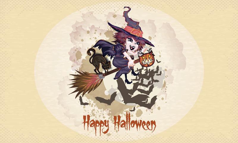 Картинки, открытки поздравления с Хэллоуином - самые прикольные 8