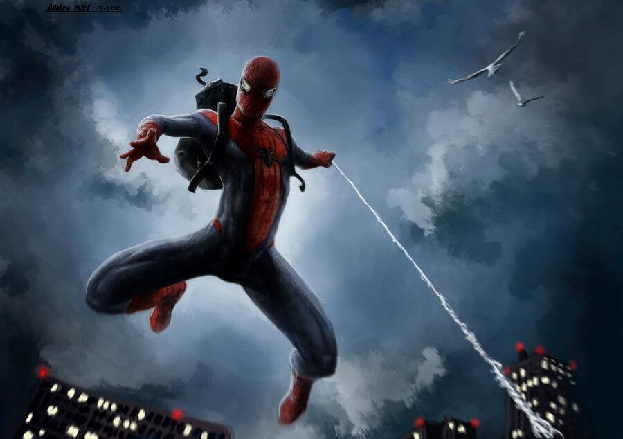 Spider-Man, Человек-паук - самые популярные и красивые арт картинки 10